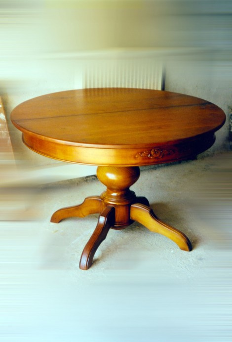 table-ronde-bois-massif
